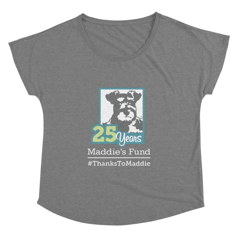 25th Anniversary Logo Dark Colors Women's Dolman Scoop Neck by Maddie Shop
