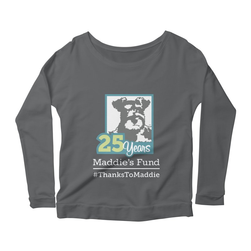 25th Anniversary Logo Dark Colors Women's Scoop Neck Longsleeve T-Shirt by Maddie Shop