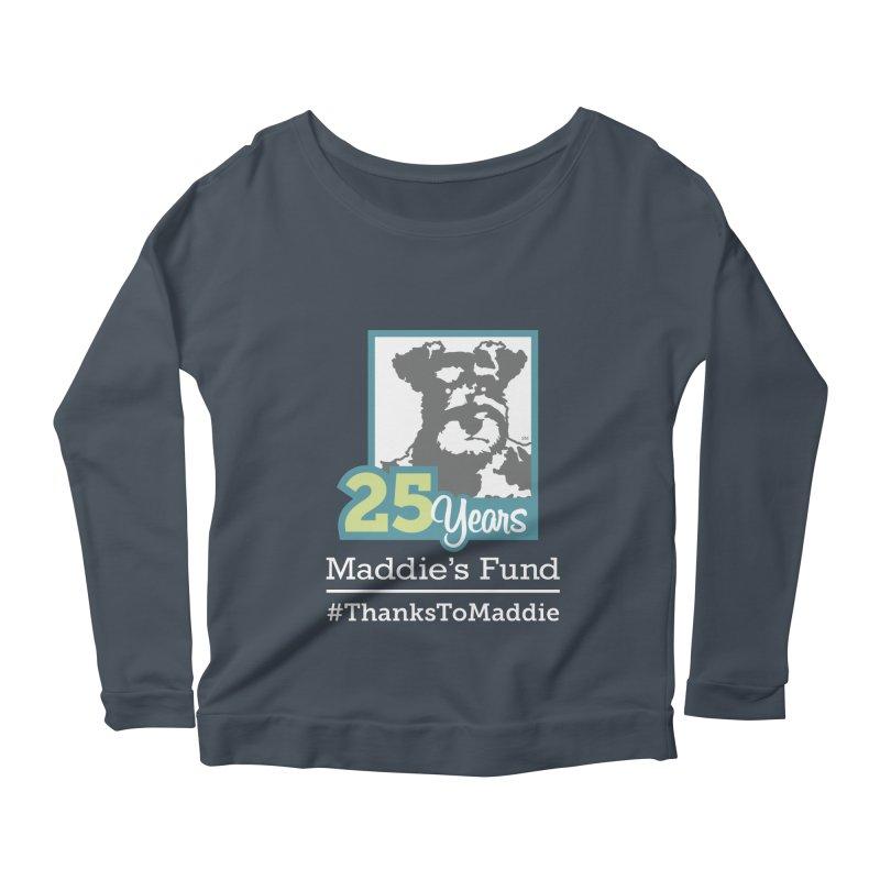 25th Anniversary Logo Dark Colors Women's Scoop Neck Longsleeve T-Shirt by Maddie Shop