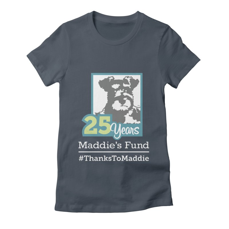 25th Anniversary Logo Dark Colors Women's Fitted T-Shirt by Maddie Shop