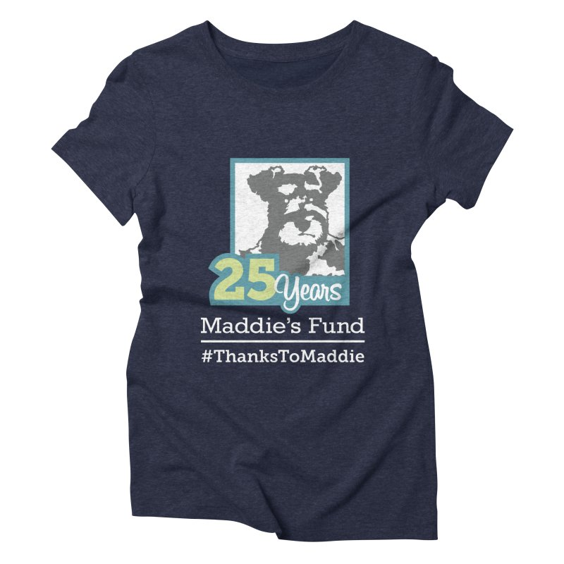 25th Anniversary Logo Dark Colors Women's Triblend T-Shirt by Maddie Shop