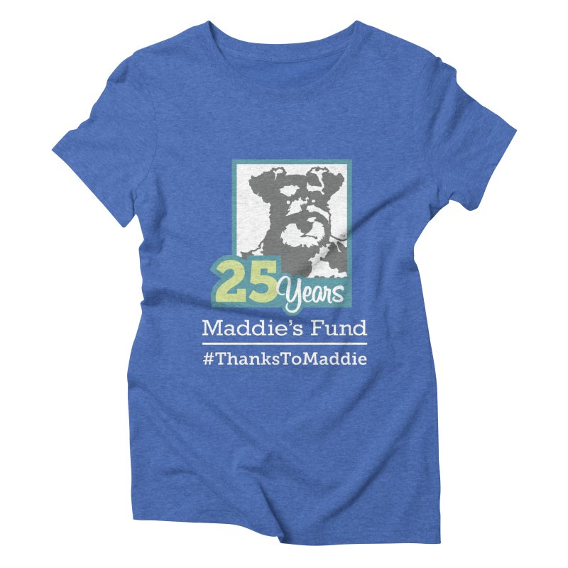 25th Anniversary Logo Dark Colors Women's Triblend T-Shirt by Maddie Shop