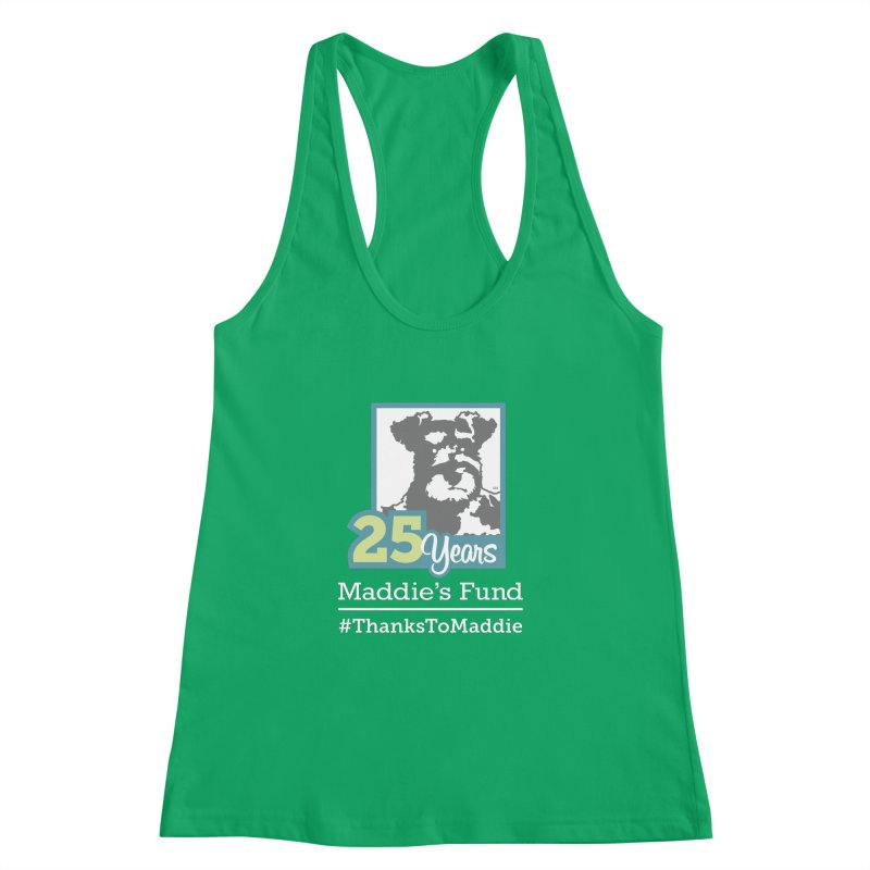 25th Anniversary Logo Dark Colors Women's Racerback Tank by Maddie Shop