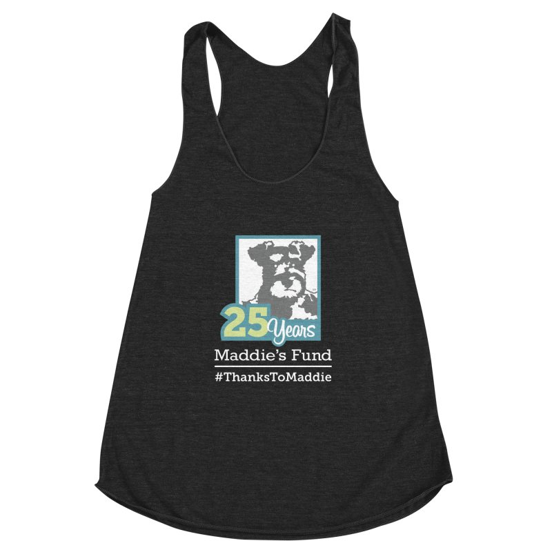 25th Anniversary Logo Dark Colors Women's Racerback Triblend Tank by Maddie Shop
