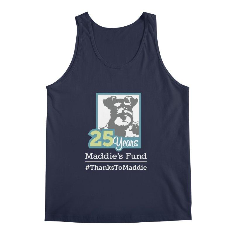 25th Anniversary Logo Dark Colors Men's Regular Tank by Maddie Shop