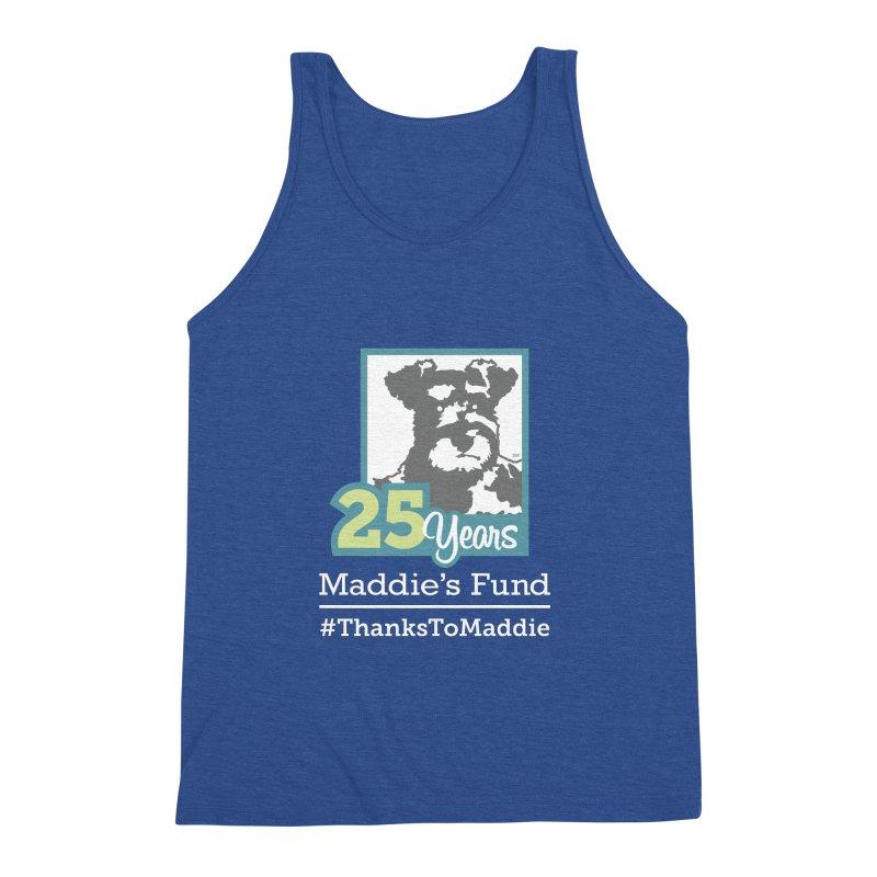 25th Anniversary Logo Dark Colors Men's Triblend Tank by Maddie Shop