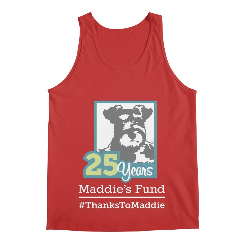 25th Anniversary Logo Dark Colors Men's Regular Tank by Maddie Shop