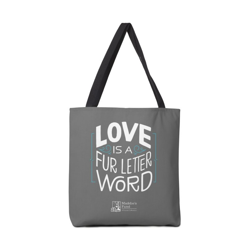 Love is a Fur Letter Word Dark Colors Accessories Tote Bag Bag by Maddie Shop