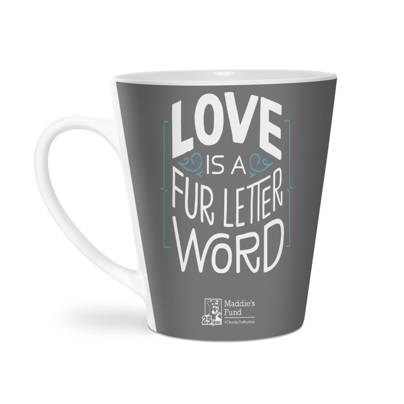 Love is a Fur Letter Word Dark Colors Accessories Latte Mug by Maddie Shop