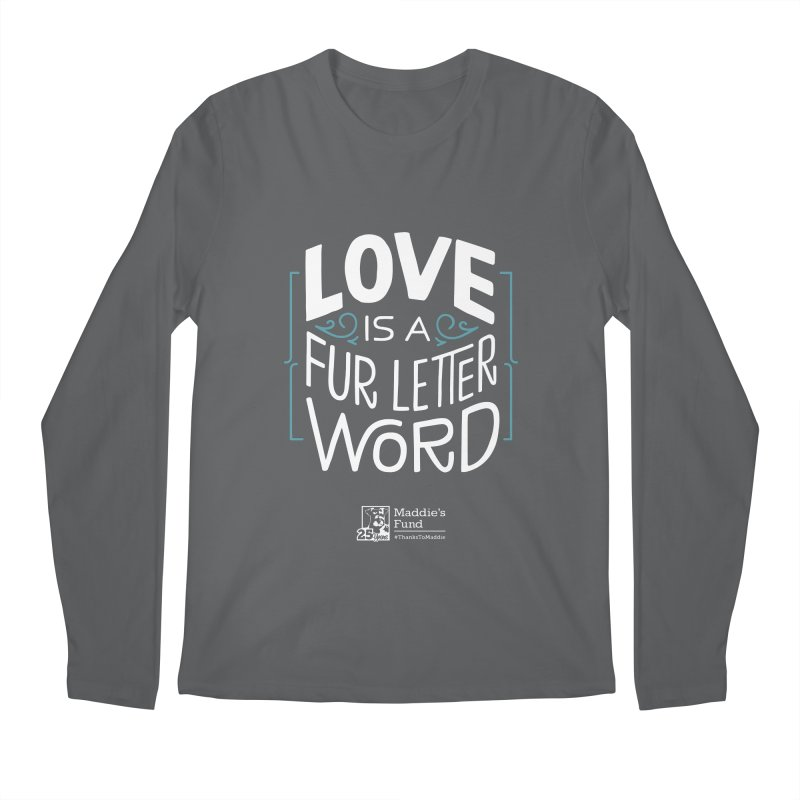 Love is a Fur Letter Word Dark Colors Men's Regular Longsleeve T-Shirt by Maddie Shop