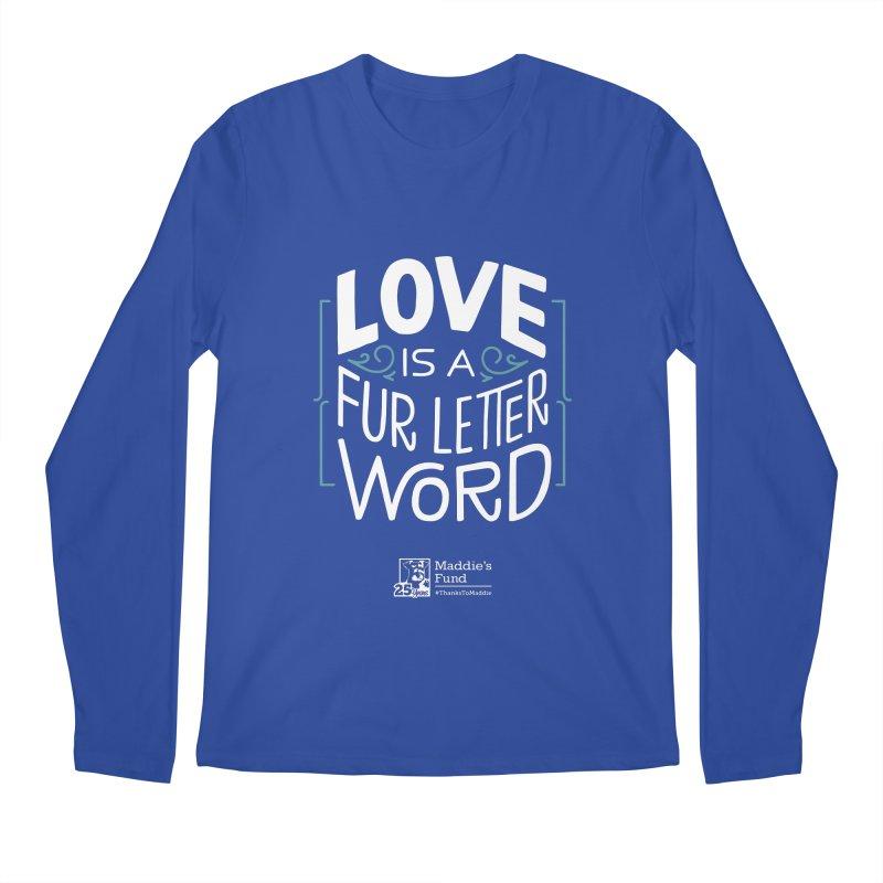Love is a Fur Letter Word Dark Colors Men's Regular Longsleeve T-Shirt by Maddie Shop