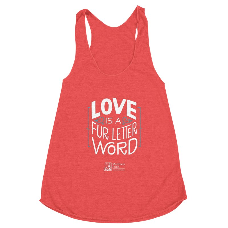 Love is a Fur Letter Word Dark Colors Women's Tank by Maddie Shop