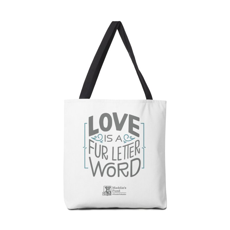 Love is a Fur Letter Word Light Colors Accessories Tote Bag Bag by Maddie Shop