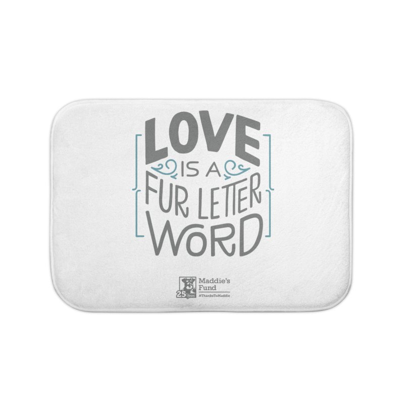 Love is a Fur Letter Word Light Colors Home Bath Mat by Maddie Shop
