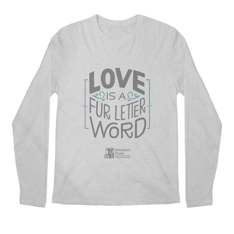 Love is a Fur Letter Word Light Colors Men's Regular Longsleeve T-Shirt by Maddie Shop