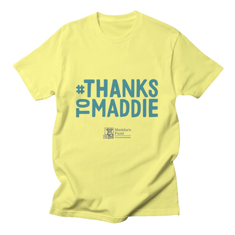#ThanksToMaddie Light Colors Men's T-Shirt by Maddie Shop