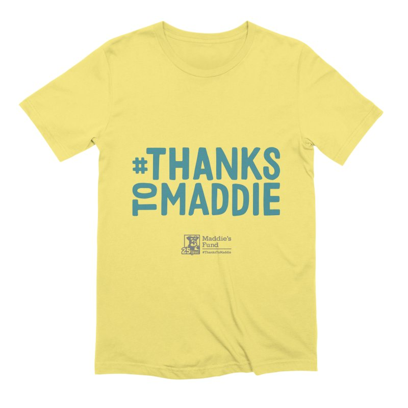 #ThanksToMaddie Light Colors Men's Extra Soft T-Shirt by Maddie Shop