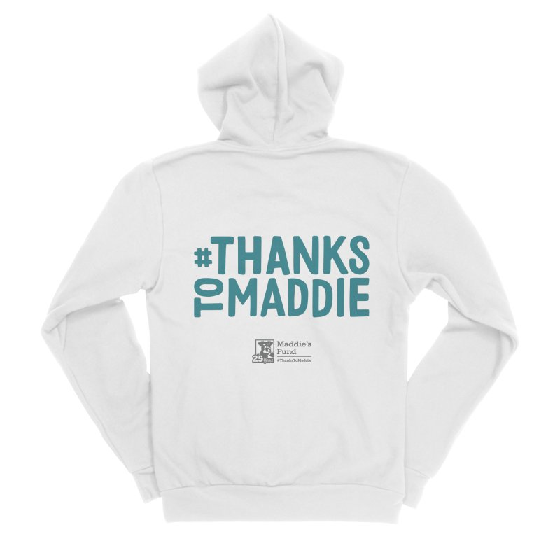 #ThanksToMaddie Light Colors Women's Sponge Fleece Zip-Up Hoody by Maddie Shop