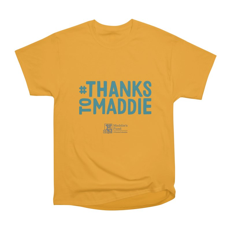 #ThanksToMaddie Light Colors Men's Heavyweight T-Shirt by Maddie Shop
