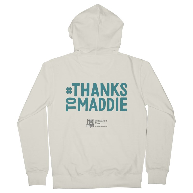 #ThanksToMaddie Light Colors Men's French Terry Zip-Up Hoody by Maddie Shop