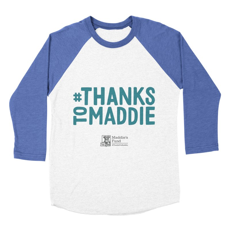 #ThanksToMaddie Light Colors Women's Baseball Triblend Longsleeve T-Shirt by Maddie Shop