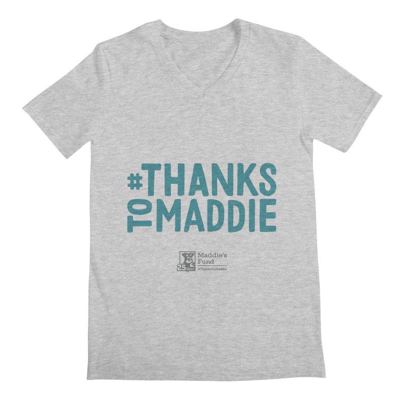 #ThanksToMaddie Light Colors Men's Regular V-Neck by Maddie Shop