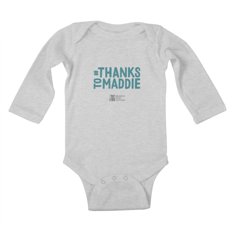 #ThanksToMaddie Light Colors Kids Baby Longsleeve Bodysuit by Maddie Shop