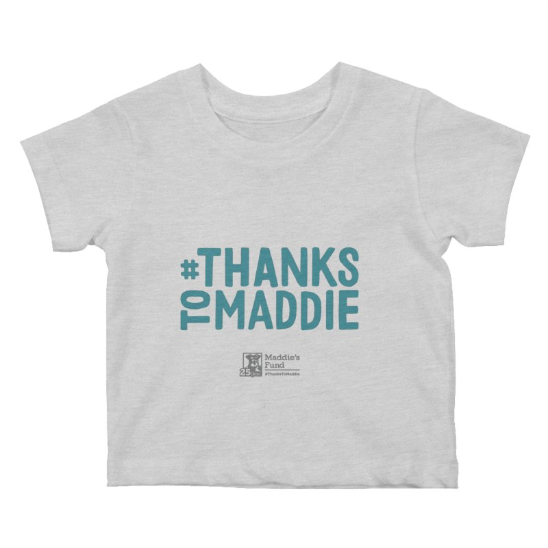 #ThanksToMaddie Light Colors Kids Baby T-Shirt by Maddie Shop