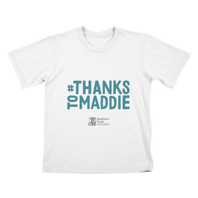 #ThanksToMaddie Light Colors Kids T-Shirt by Maddie Shop
