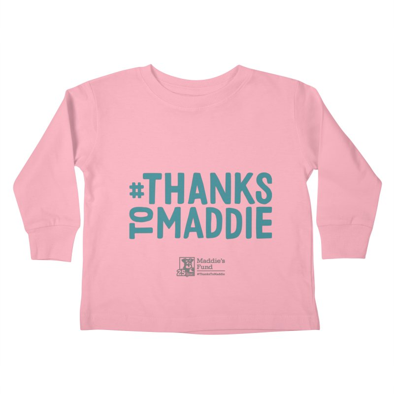 #ThanksToMaddie Light Colors Kids Toddler Longsleeve T-Shirt by Maddie Shop
