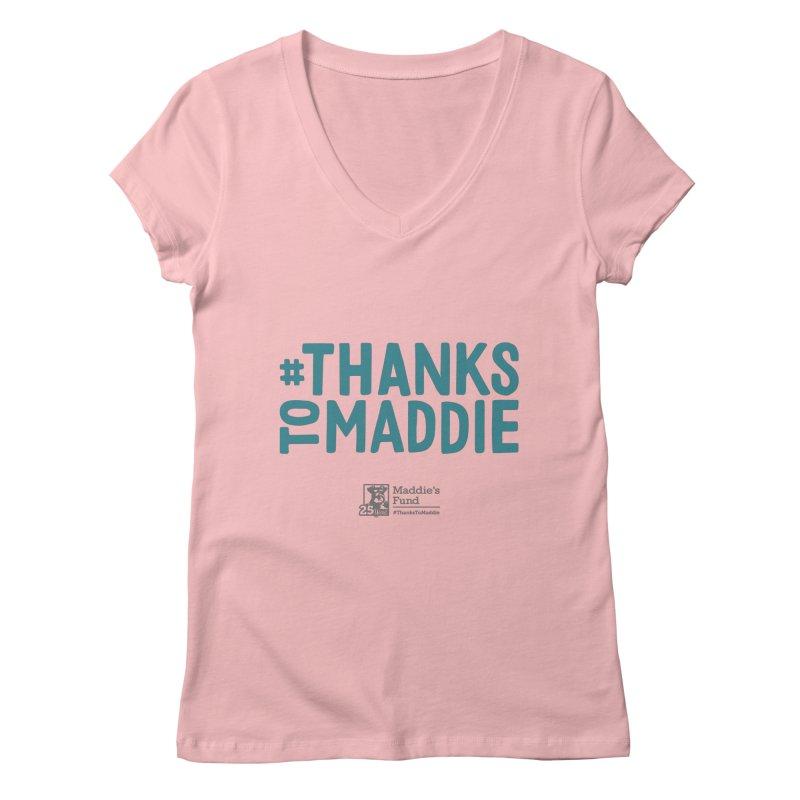 #ThanksToMaddie Light Colors Women's Regular V-Neck by Maddie Shop