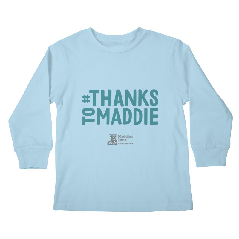 #ThanksToMaddie Light Colors Kids Longsleeve T-Shirt by Maddie Shop