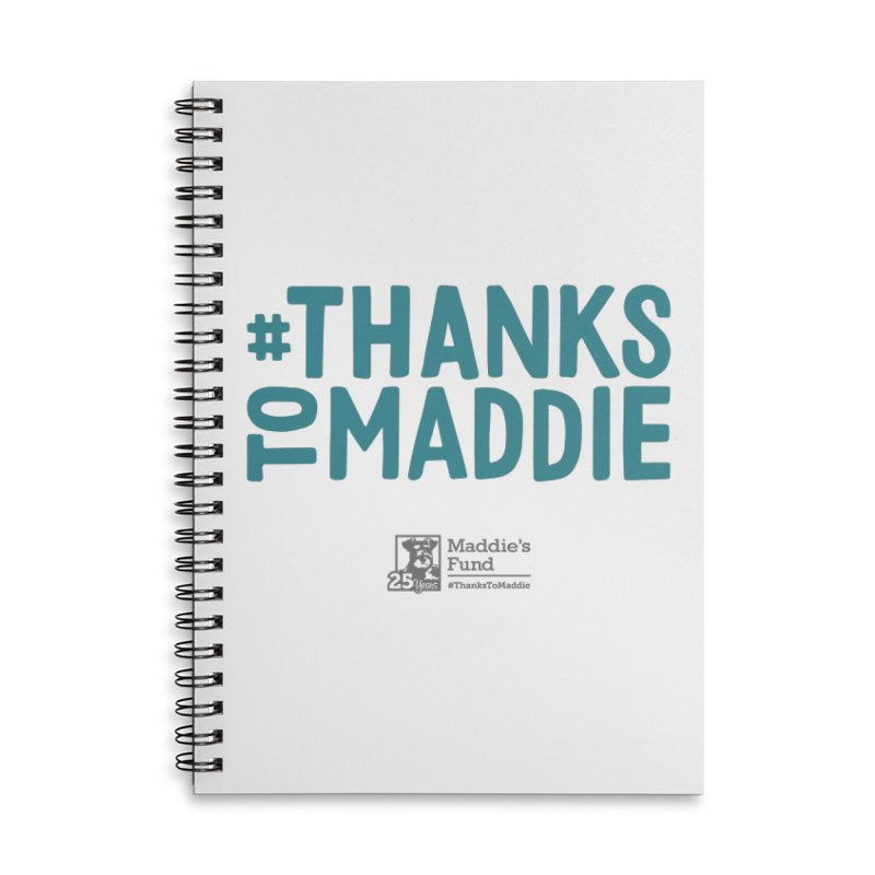 #ThanksToMaddie Light Colors Accessories Lined Spiral Notebook by Maddie Shop