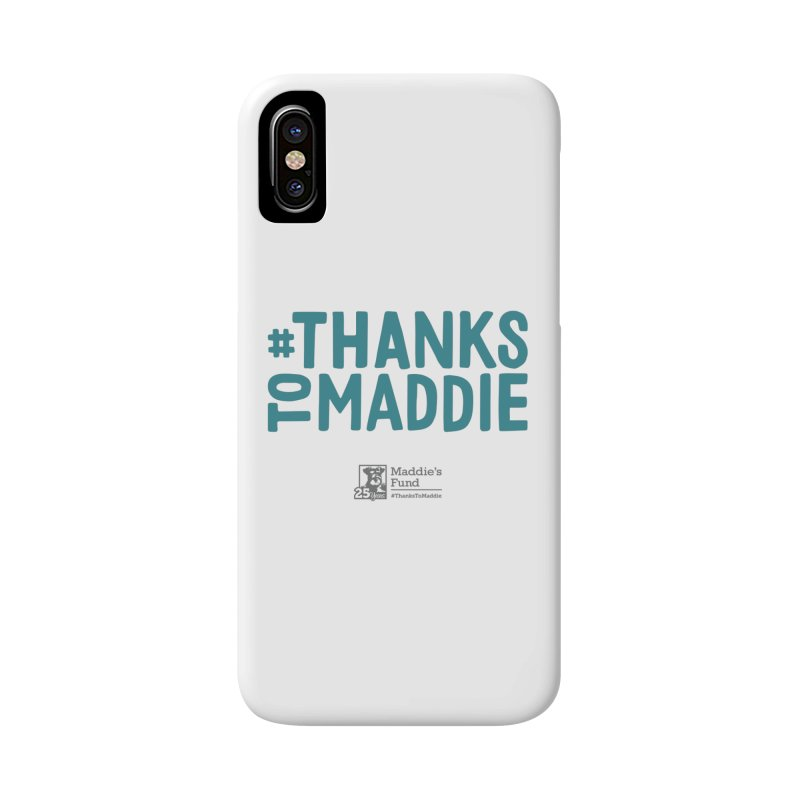 #ThanksToMaddie Light Colors Accessories Phone Case by Maddie Shop