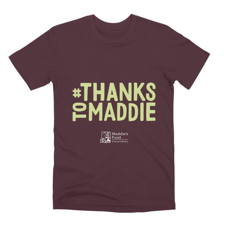 #ThanksToMaddie Dark Colors Men's Premium T-Shirt by Maddie Shop