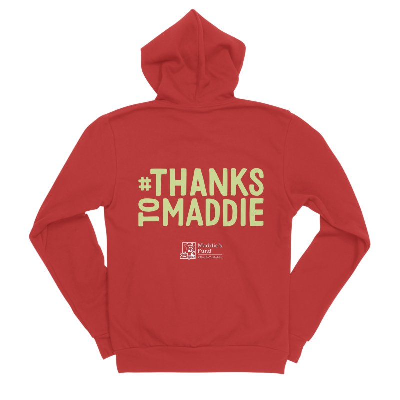 #ThanksToMaddie Dark Colors Women's Zip-Up Hoody by Maddie Shop