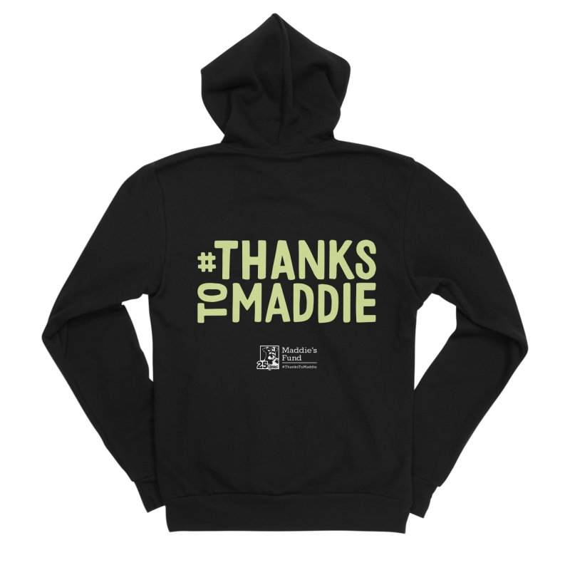 #ThanksToMaddie Dark Colors Men's Sponge Fleece Zip-Up Hoody by Maddie Shop