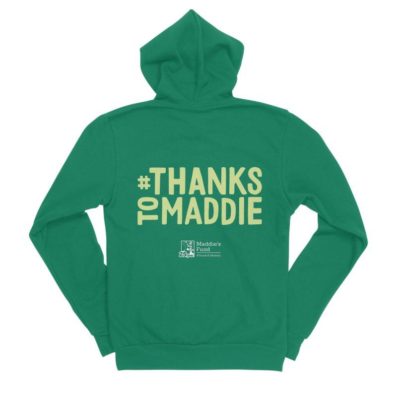 #ThanksToMaddie Dark Colors Men's Sponge Fleece Zip-Up Hoody by Maddie Shop