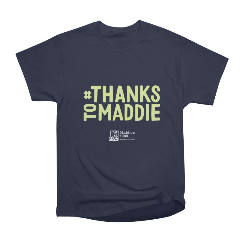 #ThanksToMaddie Dark Colors Men's Heavyweight T-Shirt by Maddie Shop