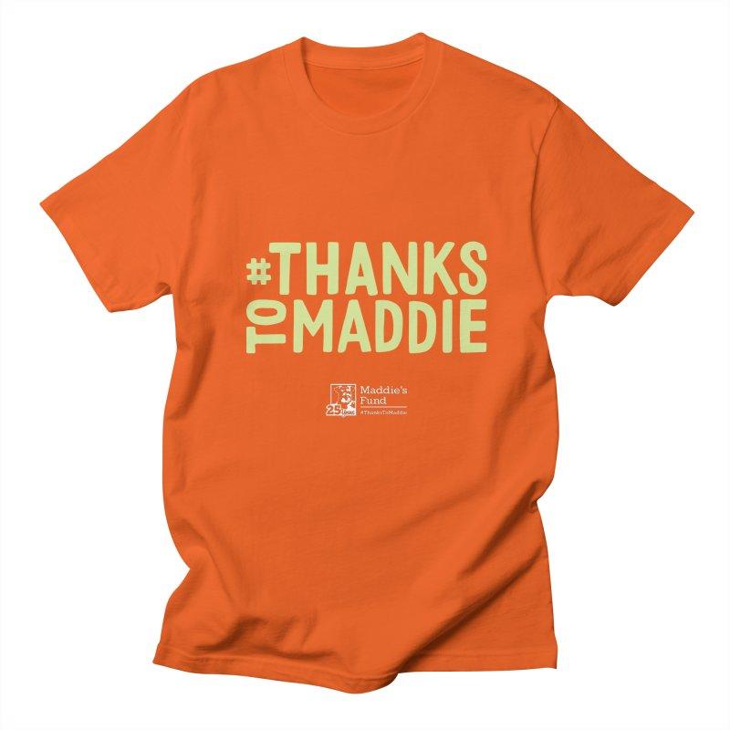 #ThanksToMaddie Dark Colors Men's Regular T-Shirt by Maddie Shop