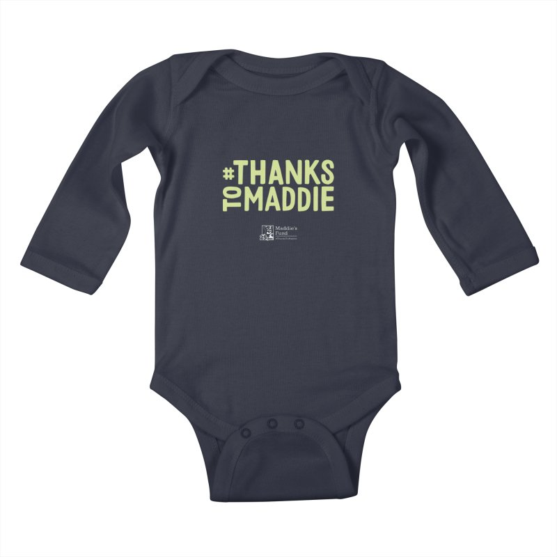 #ThanksToMaddie Dark Colors Kids Baby Longsleeve Bodysuit by Maddie Shop