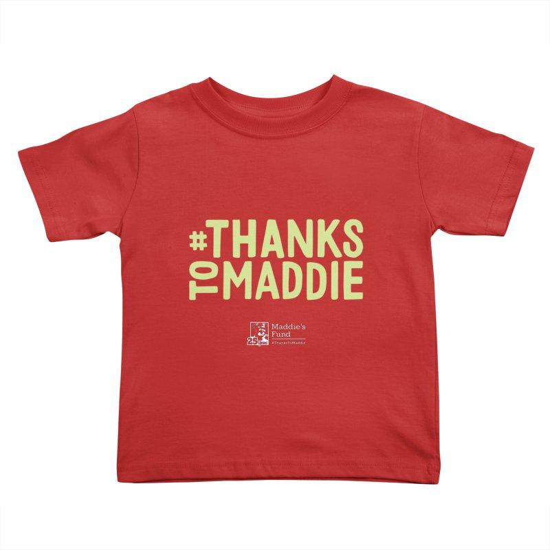 #ThanksToMaddie Dark Colors Kids Toddler T-Shirt by Maddie Shop