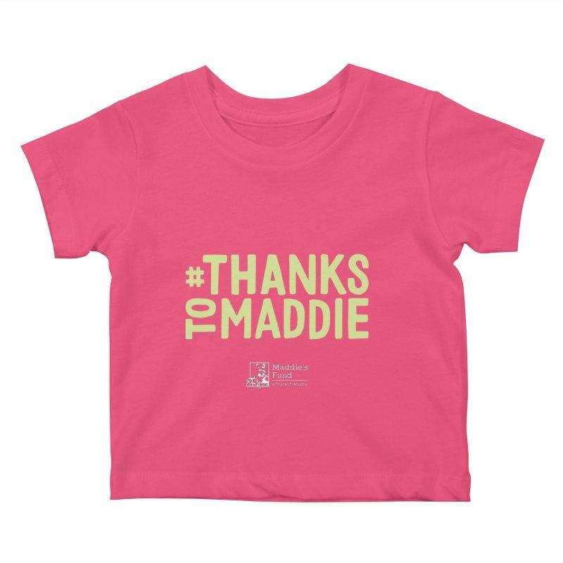 #ThanksToMaddie Dark Colors Kids Baby T-Shirt by Maddie Shop