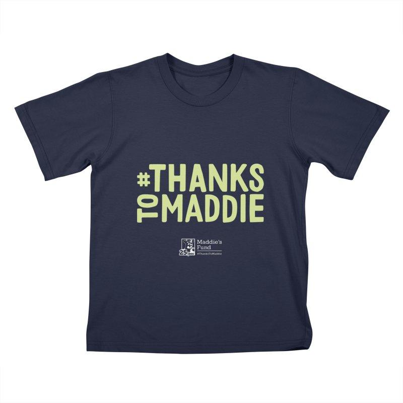 #ThanksToMaddie Dark Colors Kids T-Shirt by Maddie Shop