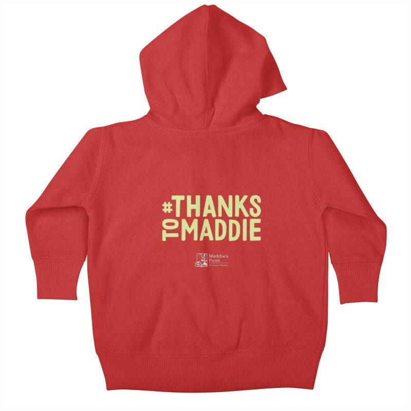 #ThanksToMaddie Dark Colors Kids Baby Zip-Up Hoody by Maddie Shop