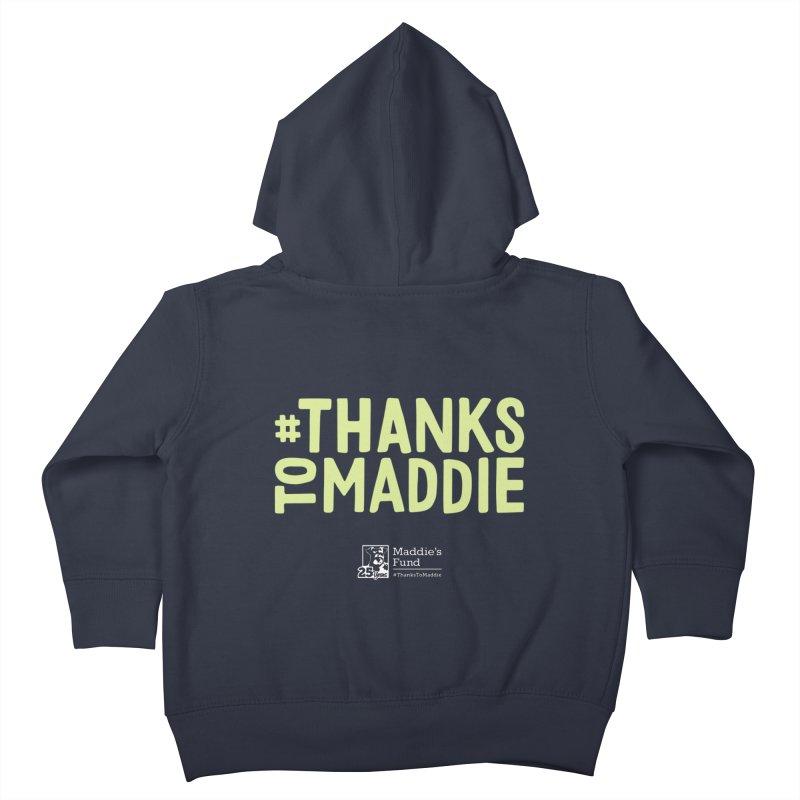 #ThanksToMaddie Dark Colors Kids Toddler Zip-Up Hoody by Maddie Shop