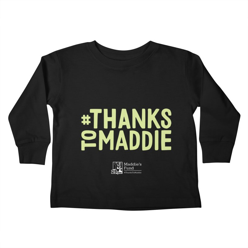 #ThanksToMaddie Dark Colors Kids Toddler Longsleeve T-Shirt by Maddie Shop