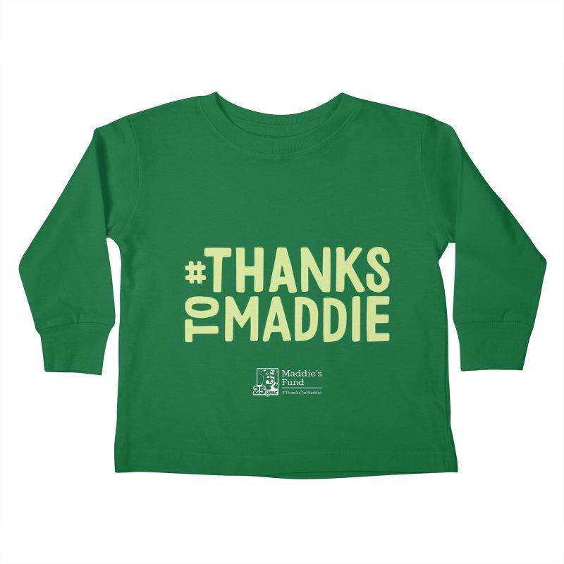 #ThanksToMaddie Dark Colors Kids Toddler Longsleeve T-Shirt by Maddie Shop