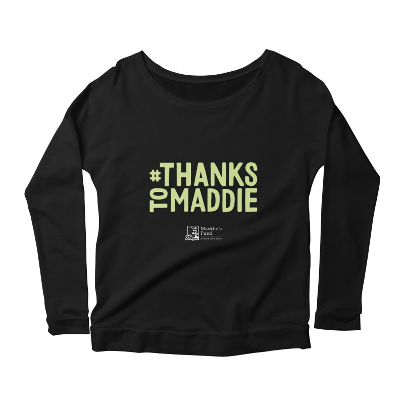 #ThanksToMaddie Dark Colors Women's Scoop Neck Longsleeve T-Shirt by Maddie Shop