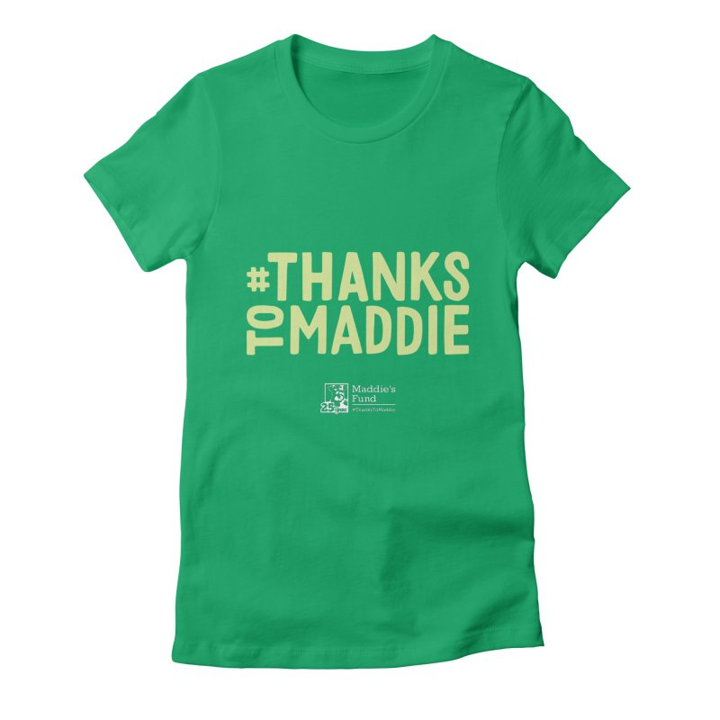 #ThanksToMaddie Dark Colors Women's Fitted T-Shirt by Maddie Shop